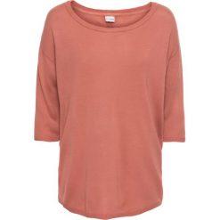 Swetry klasyczne damskie: Sweter z plisą guzikową bonprix dymny brzoskwiniowy