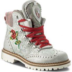 Botki NEW ITALIA SHOES - 1629405H/4 Grey/Silver. Niebieskie botki damskie na obcasie marki New Italia Shoes, z materiału. W wyprzedaży za 639,00 zł.