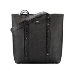 Torebki klasyczne damskie: Skórzana torebka w kolorze czarnym – (S)32 x (W)33 x (G)13 cm