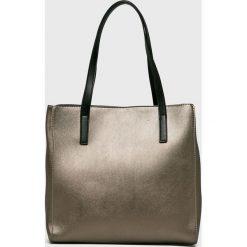 Pieces - Torebka Tabita. Szare shopper bag damskie Pieces, z materiału, do ręki, duże. W wyprzedaży za 99,90 zł.