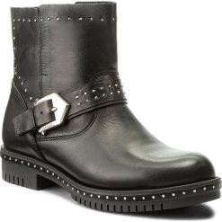 Botki CARINII - B4202 E50-000-PSK-C50. Czarne buty zimowe damskie Carinii, z materiału, na obcasie. W wyprzedaży za 239,00 zł.