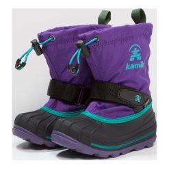Kamik WATERBUG Śniegowce purple. Fioletowe buty zimowe damskie marki Kamik, z materiału. W wyprzedaży za 279,30 zł.