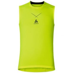 Odlo Koszulka tech. Odlo Ceramicool Singlet crew neck rozmiar XL żółta. Żółte t-shirty męskie marki Odlo, m. Za 119,95 zł.