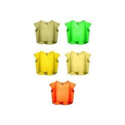 Bluzka Delicja cytrynowa. Żółte bluzki damskie Kozacki Mops, s, z krótkim rękawem. Za 69,00 zł.