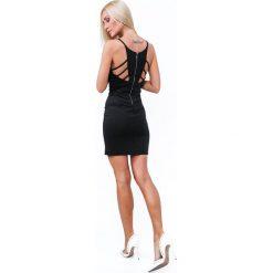 Sukienka mini dopasowana czarna ZZ314. Czerwone sukienki mini marki Fasardi, l. Za 101,00 zł.