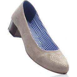 Czółenka bonprix brunatny. Brązowe buty ślubne damskie marki bonprix, na obcasie. Za 59,99 zł.
