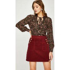 Answear - Koszula. Brązowe spódnice wieczorowe marki ANSWEAR, l, z tkaniny, z klasycznym kołnierzykiem, z długim rękawem. W wyprzedaży za 99,90 zł.