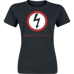 Bluzki asymetryczne: Marilyn Manson Classic Bolt Koszulka damska czarny
