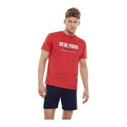 Piżama East 35734-33X Czerwono-grafitowa. Szare piżamy męskie marki Henderson. Za 83,90 zł.