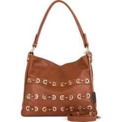 Torebki klasyczne damskie: Skórzana torebka w kolorze jasnobrązowym - 30 x 25 x 8 cm