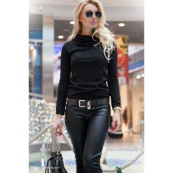 Czarna Bluza F302. Czarne bluzy damskie marki Fasardi, m, z dresówki. Za 69,00 zł.