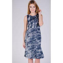 Sukienki hiszpanki: Zwiewna sukienka z printem QUIOSQUE
