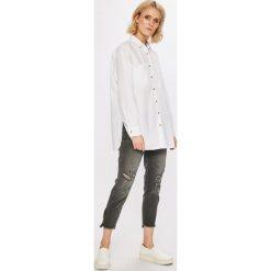 Answear - Koszula Stripes Vibes. Szare koszule damskie marki ANSWEAR, m, z bawełny, casualowe, z klasycznym kołnierzykiem, z długim rękawem. W wyprzedaży za 79,90 zł.