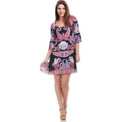 Sukienki hiszpanki: Sukienka w kolorze czarnym ze wzorem