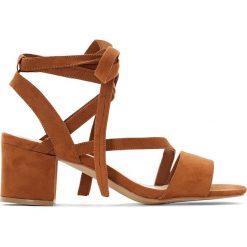 Rzymianki damskie: Sandały wiązane przy kostce szeroka stopa roz. 38-45