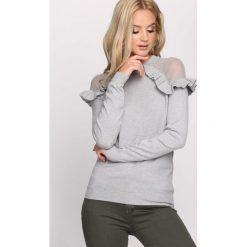 Szary Sweter Hold On Hope. Szare swetry klasyczne damskie Born2be, l, z falbankami. Za 59,99 zł.