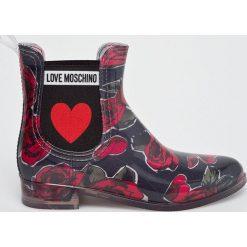 Love Moschino - Kalosze. Szare kalosze damskie marki Love Moschino, z gumy. W wyprzedaży za 399,90 zł.