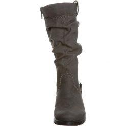 Rieker SANDY Kowbojki i Buty motocyklowe dust. Szare buty zimowe damskie marki Rieker, z materiału. W wyprzedaży za 194,35 zł.