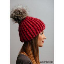 Czapka z naturalnym futerkiem. Niebieskie czapki zimowe damskie marki WED'ZE, z materiału. Za 169,00 zł.