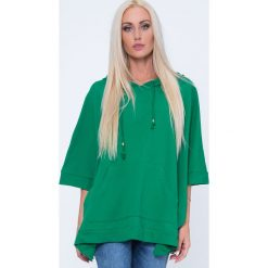 Bluzy damskie: Bluza ponczo zielona MP17411