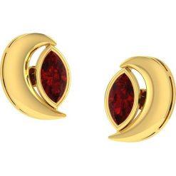 Kolczyki damskie: Złote kolczyki z ozdobnymi kamieniami