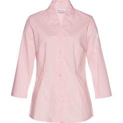 Bluzka ze stójką bonprix pastelowy jasnoróżowy. Czerwone bluzki asymetryczne bonprix, ze stójką. Za 74,99 zł.