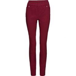 Rurki damskie: Spodnie z bengaliny SKINNY bonprix bordowy