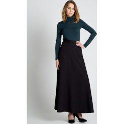 Czarna długa spódnica BIALCON. Czarne długie spódnice marki BIALCON, klasyczne, z standardowym stanem, dopasowane. W wyprzedaży za 91,00 zł.
