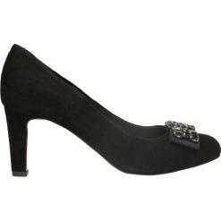 Czółenka FRIDA. Czarne buty ślubne damskie Gino Rossi, ze skóry, na obcasie. Za 299,90 zł.