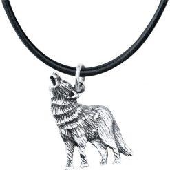 Rock-Silver Howling Wolf Wisiorek + Rzemyk standard. Szare łańcuszki męskie Rock-Silver, srebrne. Za 54,90 zł.