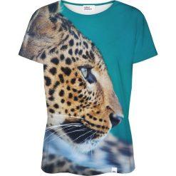 Colour Pleasure Koszulka damska CP-030 132 miętowo-brązowa r. XS/S. Brązowe bluzki damskie marki Colour pleasure, s. Za 70,35 zł.