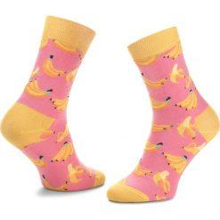 Skarpety Wysokie Unisex HAPPY SOCKS - BAN01-3000 Różowy. Czerwone skarpetki męskie Happy Socks, z bawełny. Za 34,90 zł.