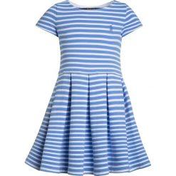 Odzież dziecięca: Polo Ralph Lauren STRIPE PONTE DRESSES Sukienka dzianinowa harbor island blue/white