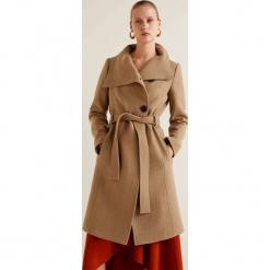 Mango - Płaszcz Venus2. Brązowe płaszcze damskie pastelowe Mango, l, w paski, z materiału. Za 549,90 zł.