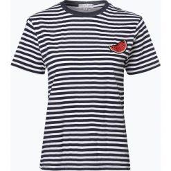 Marie Lund - T-shirt damski, niebieski. Niebieskie t-shirty damskie Marie Lund, s, z aplikacjami, z klasycznym kołnierzykiem. Za 59,95 zł.