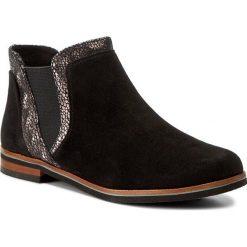 Sztyblety CAPRICE - 9-25304-29 Blk Sued.Multi 027. Różowe buty zimowe damskie marki Caprice, z materiału. W wyprzedaży za 229,00 zł.
