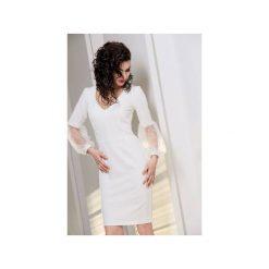 Sukienka Yasmin. Białe sukienki z falbanami marki Silje, z tiulu, ołówkowe. Za 399,00 zł.