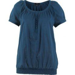 Bluzka, krótki rękaw bonprix ciemnoniebieski. Niebieskie bluzki damskie bonprix, z krótkim rękawem. Za 37,99 zł.