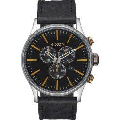Zegarki męskie: Zegarek męski Black Brass Nixon Sentry Chrono Leather A4052222