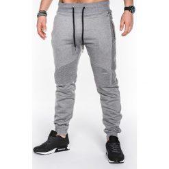 Spodnie męskie: SPODNIE MĘSKIE DRESOWE P466 – SZARE