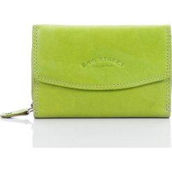 Portfele damskie: Seledynowy Skórzany portfel damski Bag Street