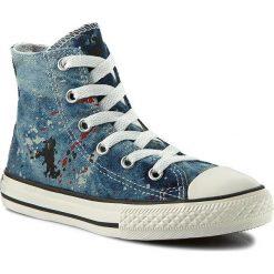 Trampki CONVERSE - Ctas Hi 651699C Ash Grey/Cas. Niebieskie trampki chłopięce Converse, z gumy. W wyprzedaży za 169,00 zł.