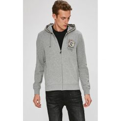 Napapijri - Bluza. Szare bluzy męskie rozpinane marki Napapijri, l, z bawełny, z kapturem. W wyprzedaży za 299,90 zł.