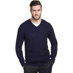 Sweter MANUELE SWGR000243. Brązowe swetry klasyczne męskie Giacomo Conti, m, z wełny, z klasycznym kołnierzykiem. Za 249,00 zł.