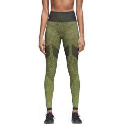 Spodnie damskie: Adidas Legginsy damskie Seamless Long Tights CV3493 czarno-zielone r. M
