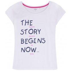 T-shirty dziewczęce: Bluzka damska z obniżoną linią ramion