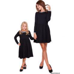 LATORI - Sukienka z kolekcji Mama i córka LD20. Czarne sukienki dziewczęce dzianinowe Pakamera, w koronkowe wzory, eleganckie. Za 69,00 zł.