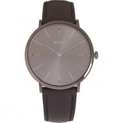 Zegarek kwarcowy w kolorze czarno-antracytowym. Czarne, analogowe zegarki męskie HUGO BOSS, ze stali. W wyprzedaży za 521,95 zł.