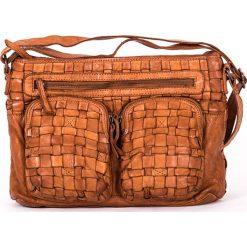 Torebki klasyczne damskie: Skórzana torebka w kolorze brązowym – 31 x 22 x 7 cm