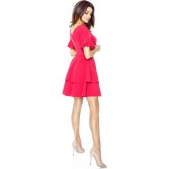 Sofia urocza sukienka 2 koła malina. Czerwone sukienki na komunię Bergamo. Za 154,00 zł.